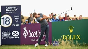 Robert Rock enjoys a two-shot lead after two low rounds in Scotland