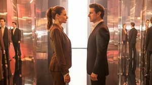 Rebecca Ferguson with Tom Cruise in Mission: Impossible - Fallout