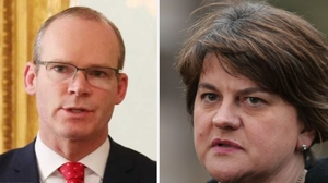 Simon Coveney met with police and residents from the Bogside while Arlene Foster visited the unionist Fountain estate