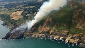 The Air Corps is resuming operations today to tackle the fire (Pic: Air Corps)