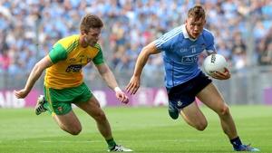 Donegal's Eoghan Bán Gallagher tracks Dublin's Con O'Callaghan
