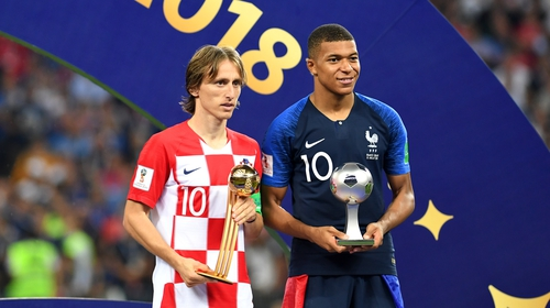 Luka Modric picked up the player of the tournament award