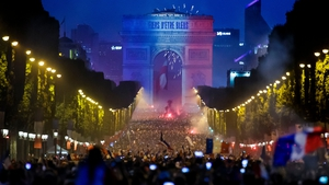 French fans poured onto the Champs Elysees after the 4-2 win over Croatia