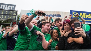 Limerick fans celebrate their victory over Kilkenny