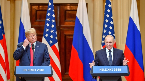 "Mr Trump said he had spent ""a great deal of time"" pressing Mr Putin about election meddling during their talks"