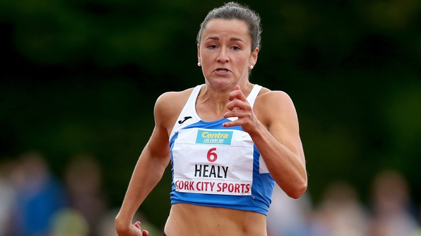 Phil Healy broke the Irish 200m record on her way to a third-place finish in Cork