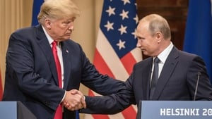 Donald Trump held a summit with Vladimir Putin in Helsinki in July