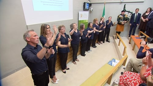 A new Irish Sign Language version of the National Anthem has been officially in Leinster House for the first time