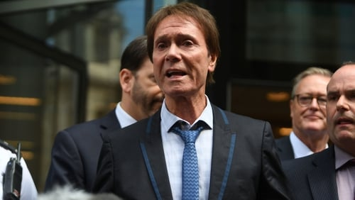 Cliff Richard said that he was too emotional to talk outside court