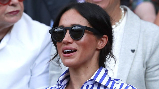 4dc651d07e2 Meghan s sunglasses. Meghan Markle (Andrew Couldridge PA)