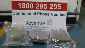 The cannabis was found in two parcels that had arrived from Spain