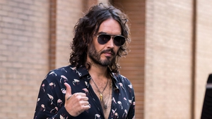 Russell Brand - New family adventure began filming in Ireland this week
