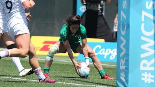 Amee-Leigh Murphy Crowe was in try-scoring form for Ireland