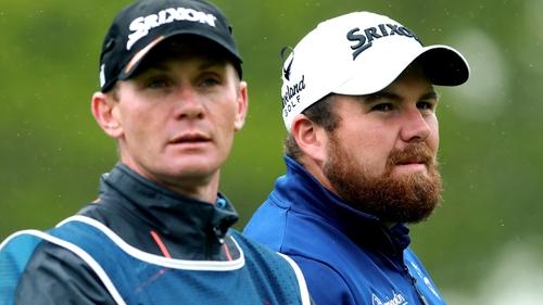 Caddie Dermot Byrne and Shane Lowry