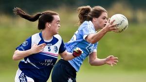 Noelle Healy of Dublin gets away from Cavan's Sinead Greene