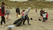 Six One News (Web): Donegal beach clean-up highlights issue of plastic waste