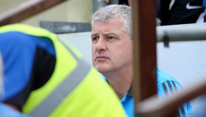 Roscommon manager Kevin McStay watching on from the dugout