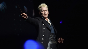Johnny Depp showed up at Comic Con in character as Grindelwald