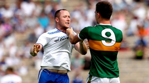Monaghan's Vinny Corey and Jack Barry of Kerry tangle