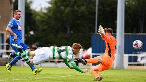 Gary Shaw heads home the winning goal