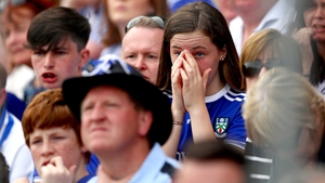 A young Monaghan can barely watch a thrilling finale