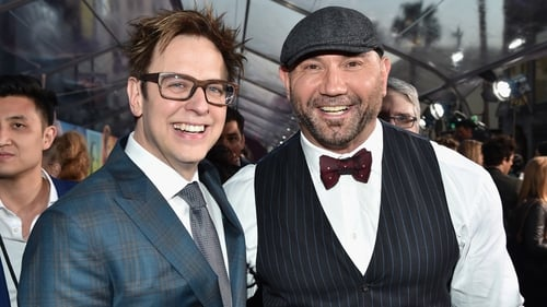 James Gunn and Guardians of the Galaxy star Dave Bautista