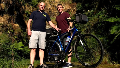 Cian McCormack is back on his bike for a week-long series on Morning Ireland