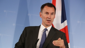 Jeremy Hunt said the British parliament was committed to stopping a no-deal Brexit