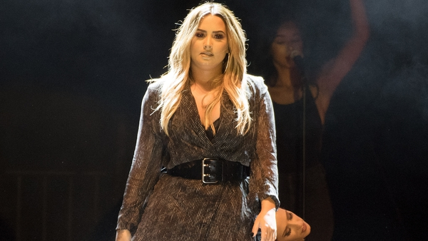 Demi Lovato performing at the California Mid-State Fair on July 22 in Paso Robles