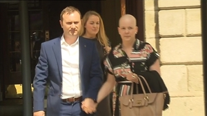 Ruth Morrissey and her husband seen leaving the High Court