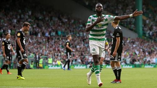 Odsonne Edouard celebrates scoring the game's opening goal