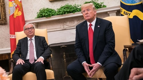 US President Donald Trump and European Commission President Juncker agreed to try to reduce trade barriers after talks last year
