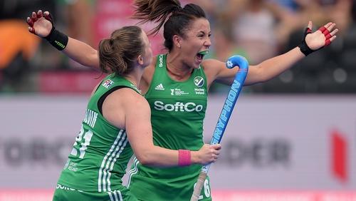 Anna O'Flanagan celebrates her goal