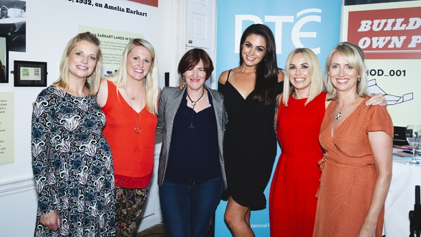 Taragh with the RTÉ Hourglass speakers
