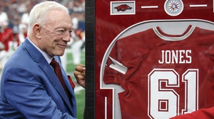 """Jerry Jones: """"Our policy is you stand during the anthem, toe on the line."""""""