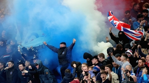 Rangers fans at Parkhead last April