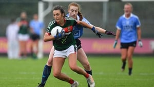 Niamh Kelly of Mayo in action against Lauren Magee of Dublin
