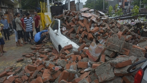 The bad weather caused some buildings to collapse