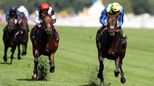 James Doyle riding Poet's Word (right) storms home to victory