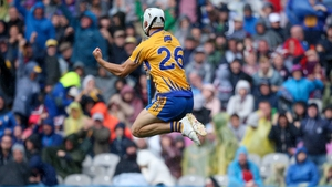 Clare's Aron Shanagher celebrates