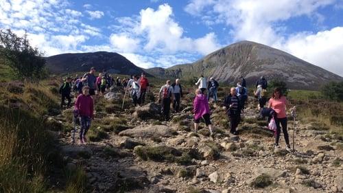 Pilgrims take to Croagh Patrick on Reek Sunday