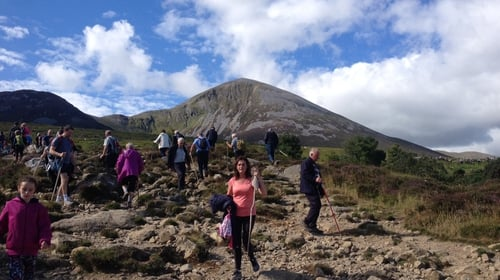 People take part in the annual climb on Reek Sunday