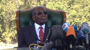 Robert Mugabe held a surprise news conference at his home