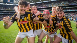 Harry Walsh, Eoin Guilfoyle and Cian Kelly celebrate after the game