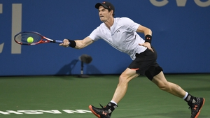Andy Murray continues his prep ahead of the US Open