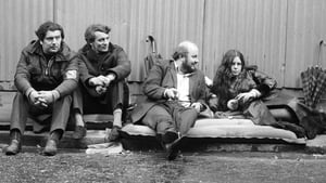 John Hume with Austin Currie, Paddy O'Hanlon and Bernadette Devlin during a two-day hunger strike outside Downing St in 1971