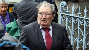Mr Hume is pictured arriving for the funeral of former taoiseach Albert Reynolds in 2014