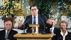 John Hume at the Forum for Peace and Reconciliation in 1994 (Pic: RTÉ Stills Library)