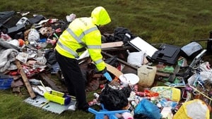 The illegal dump was discovered in the Lough Easkey area