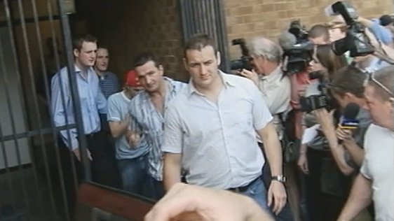 Nicky Byrne exiting Wicklow registry office (2003)